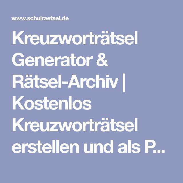 Archiv Kreuzworträtsel