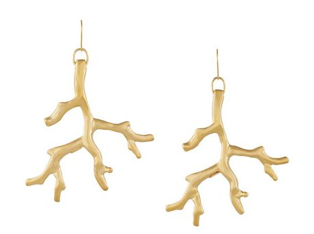 Cropped: Kenneth Jane Lane Gold-Plated Earrings
