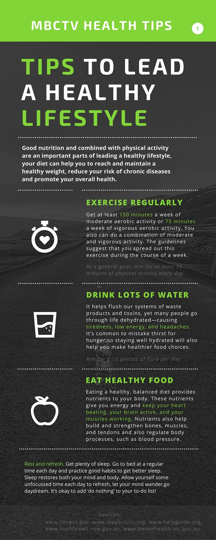 To keep you healthy and make you feel better ;  here is the info-graphic for you ; this will definitely help you keep a healthy body ,mind and Spirit ...live strong , be strong ...