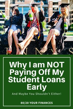 Why I decided not to payoff my student loans early