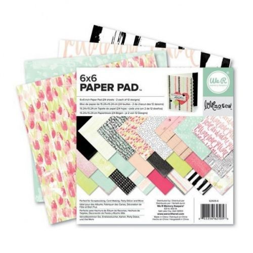 WE R MEMORY KEEPERS - PAPER PAD 6X6 - LOVE NOTES We R Memory Keepers- 6x6 Paper Pad.The perfect addition to all your paper crafting projects!