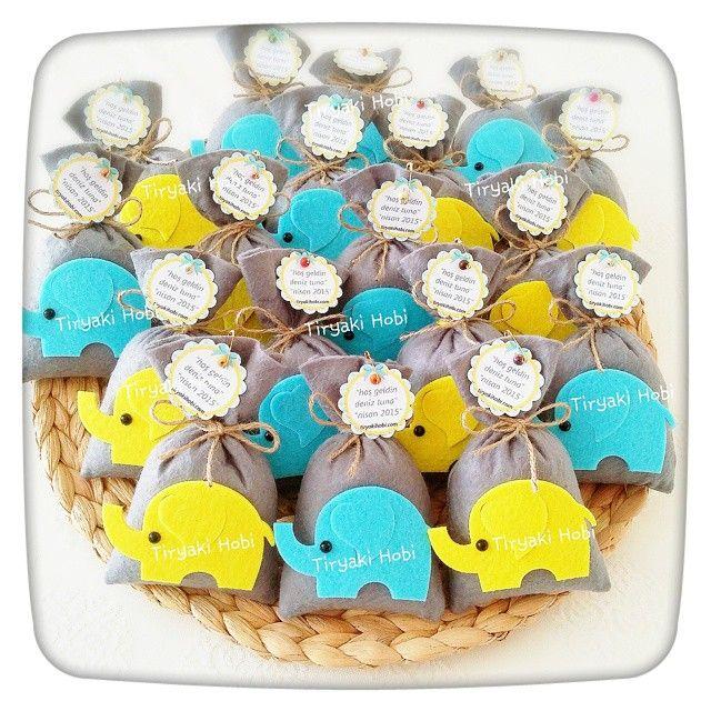 ♥ Tiryaki Hobi ♥: Keçe lavanta kesesi - fil (Deniz Tuna)  ---  felt lavander bags with elephants