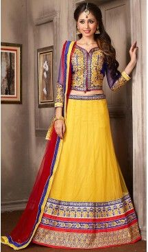 Yellow Color Net A Line Style Party Wear Lehenga Choli | FH479574052 #heenastyle, #designer, #lehengas, #choli, #collection, #women, #online, #wedding , #Bollywood, #stylish, #indian, #party, #ghagra, #casual, #sangeet, #mehendi, #navratri, #fashion, #boutique, #mode, #henna, #wedding, #fashion-week, #ceremony, #receptions, #ring , #dupatta , #chunni , @heenastyle , #Circular , #engagement