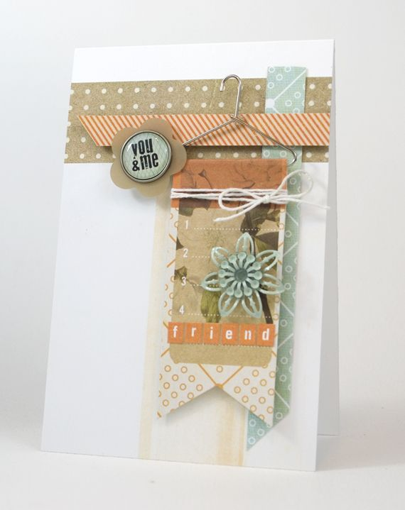 You and Me | Shari Carroll  {Basic Grey: Fact and Fiction}  Great inspiration for a PL card