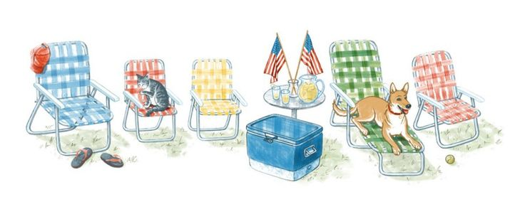 oodler Brian Kaas says his artwork was inspired by the aluminum chairs often used for July 4th backyard barbeques. A