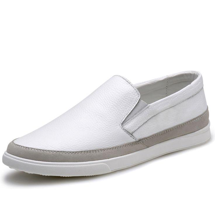 Повседневные Мужские Туфли Скольжения На 2015 Весна Натуральной Кожи Вождения Обувь Мужская Мокасины Мокасины Обувь для Мужчин Плоские Туфли