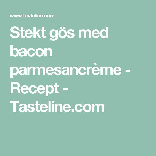 Stekt gös med bacon parmesancrème - Recept - Tasteline.com