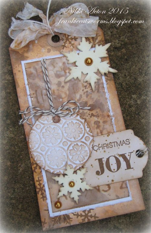 Addicted to Art: Christmas Tag for A Vintage Journey