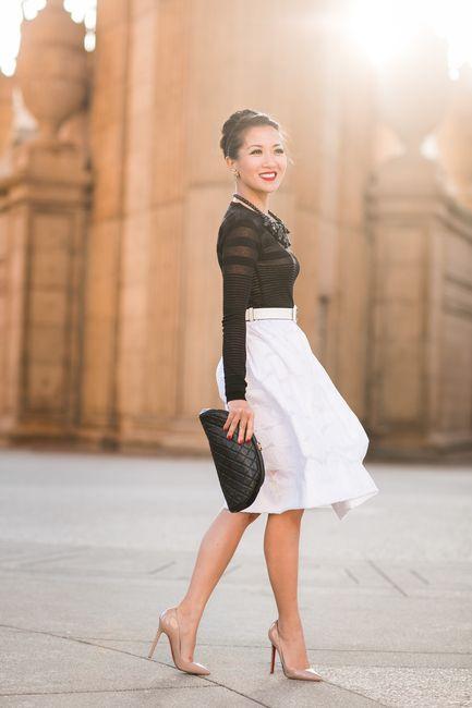 Sunset Palace :: Sheer stripes & White rose skirt