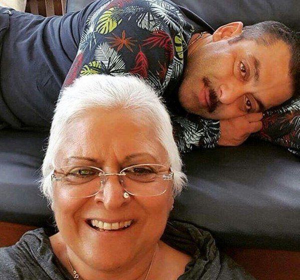 Selfie Time! Salman Khan with his family friend Bina Kak