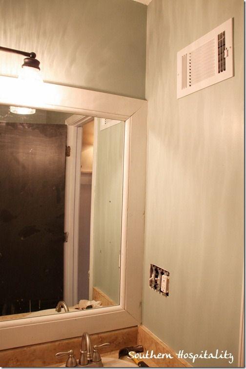 Trim for bathroom mirror