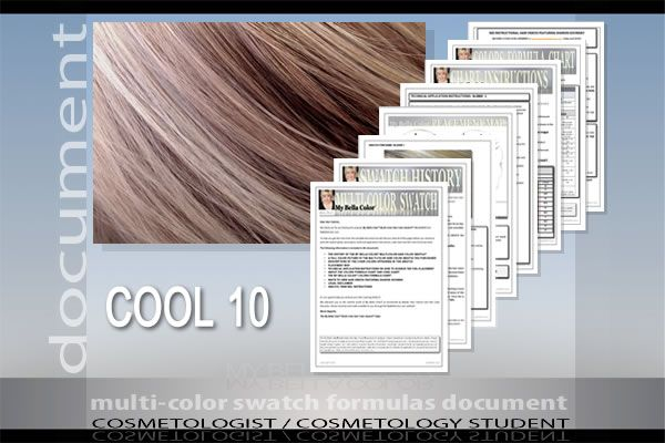 This perfectly COOL hair color combination combines COOL ASH BLONDE with varying shades of WHEAT lowlights.  Perfect for someone with pale skin, fine or medium, straight, long layered or one length hair, and naturally soft brown hair color who is graying around the face.
