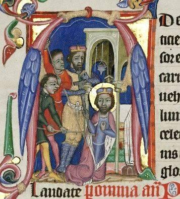Smrt sv.Václava, Liber viaticus, adligát, po 1365, Národní knihovna XIII A 12