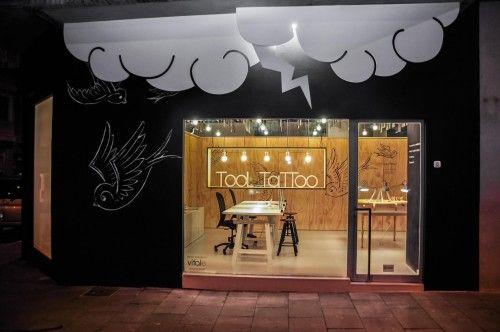 tattoo shop design bright interior studio idea