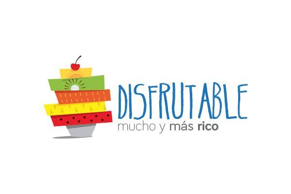 Disfrutable, propuesta de logotipo para empresa de venta de frutas en camiones andantes.