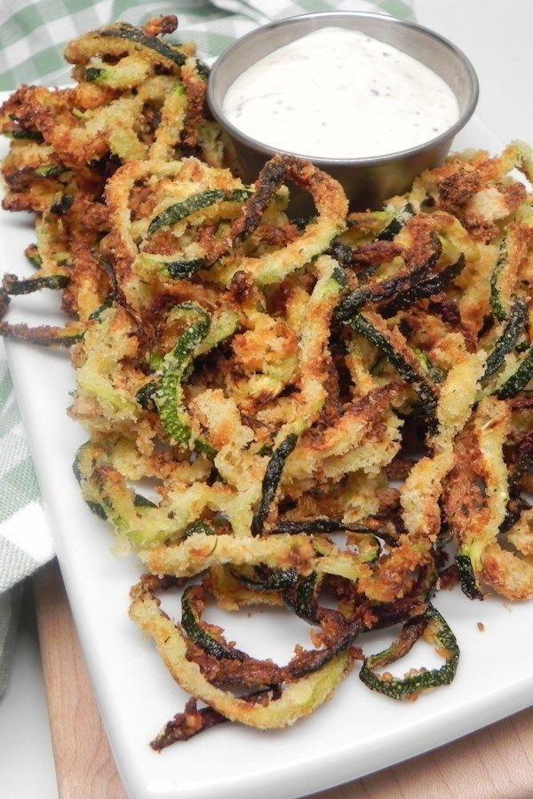 Air Fryer Zucchini Curly Fries Recipe in 2020 Air