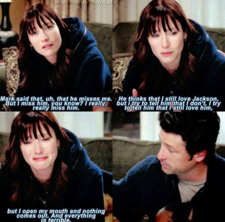 Grey's anatomy, Lexie about Mark (8x21)