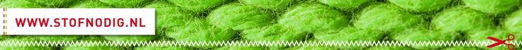 Stof Nodig - tricot stip of slangenprint