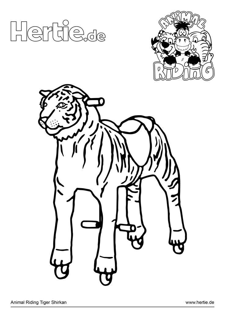 Animal Riding Ausmalbild Tiger Shirkan  http://www.hertie.de/Animal-Riding-Ausmalbild-Tiger-Shirkan_c288 #DIY #Kinder #Malen #Kreativ #Hertie