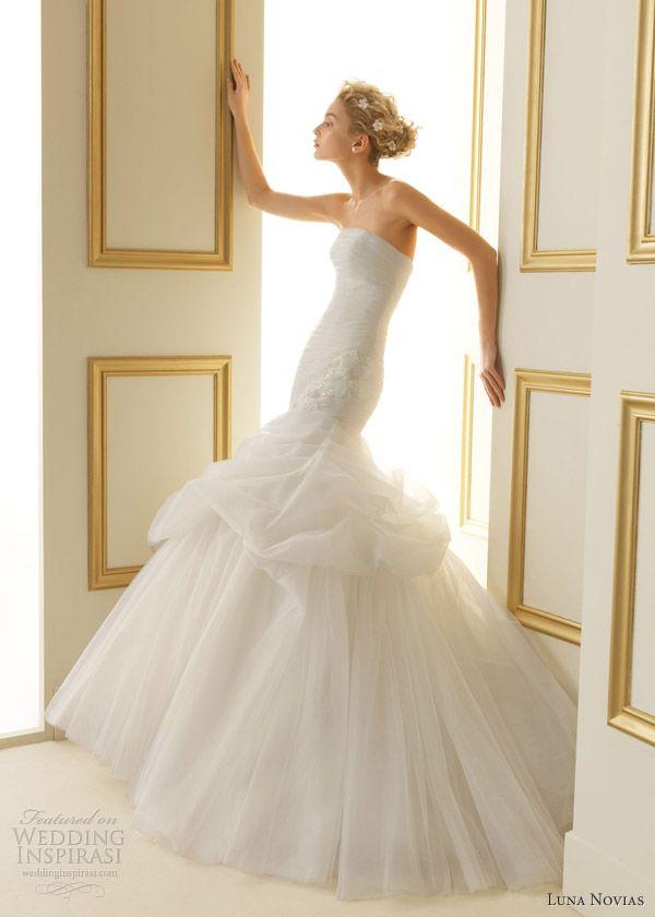 luna novias wedding dresses 2013 tiffany strapless gown