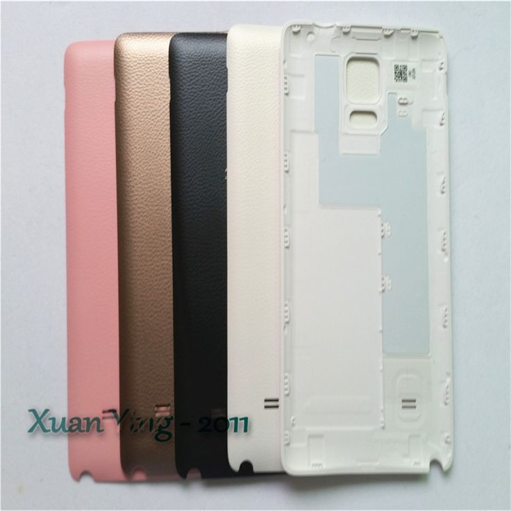 Hot Selling Original White/Black/Gold/Pink Housing Case Door Back Battery Cover Case For Samsung Galaxy Note 4 N9100 With Logo
