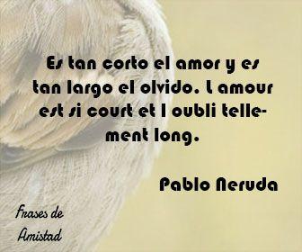 Frases de amor en frances de Pablo Neruda