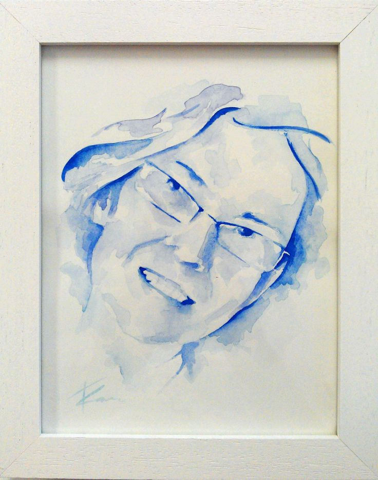 Aurelien's mum, watercolour portrait by Tasneem Kamies for KIN on Kloof's Mother's Day window exhibition  For more info on this exhibit- http://bit.ly/1rBb0yS  kinshop.co.za - growing local art & design