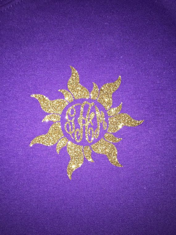 Tangled Sun Monogrammed T-shirt by SimplicityByEmma on Etsy