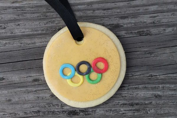 Olympic cookie medal