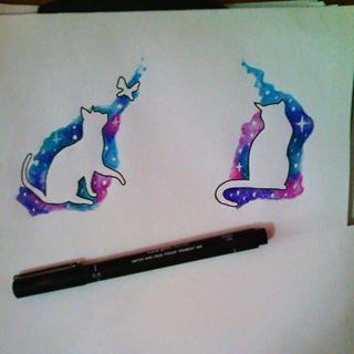 galaxy cat tattoo - Google Search                                                                                                                                                     More