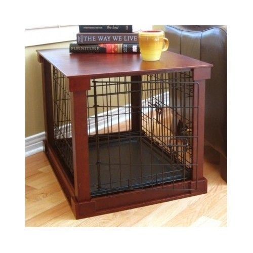 Details About DOG CAT PET CAGE KENNEL WOOD CRATE FURNITURE END TABLE