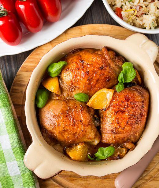 Курица, запеченная с лимоном и паприкой