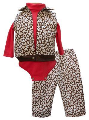 Chaleco de pana con pretina y cuello, multiprenda manga larga cuello alto y pantalón. Tallas 3, 6, 12 y 18 meses.