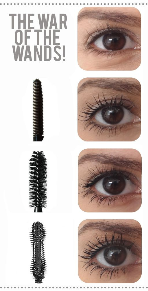 Mascara wand types do make a difference...