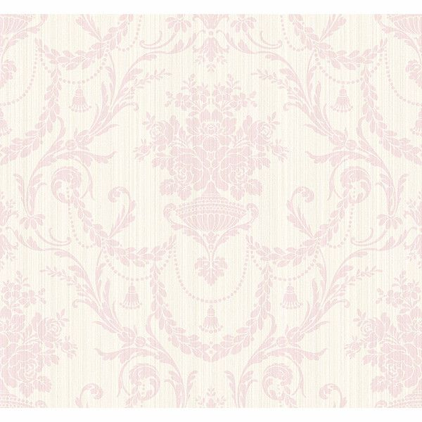 Sample India Damask Wallpaper in Pink by Carl Robinson for Seabrook... (475 DOP) ❤ liked on Polyvore featuring home, home decor, wallpaper, pink home accessories, damask wallpaper, pink damask wallpaper, indian wallpaper and seabrook wallpaper