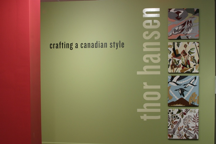 """Catalogue cover for the Canadian Textile Museum's 2005 show, """"Crafting a Canadian Style: Thor Hansen"""""""