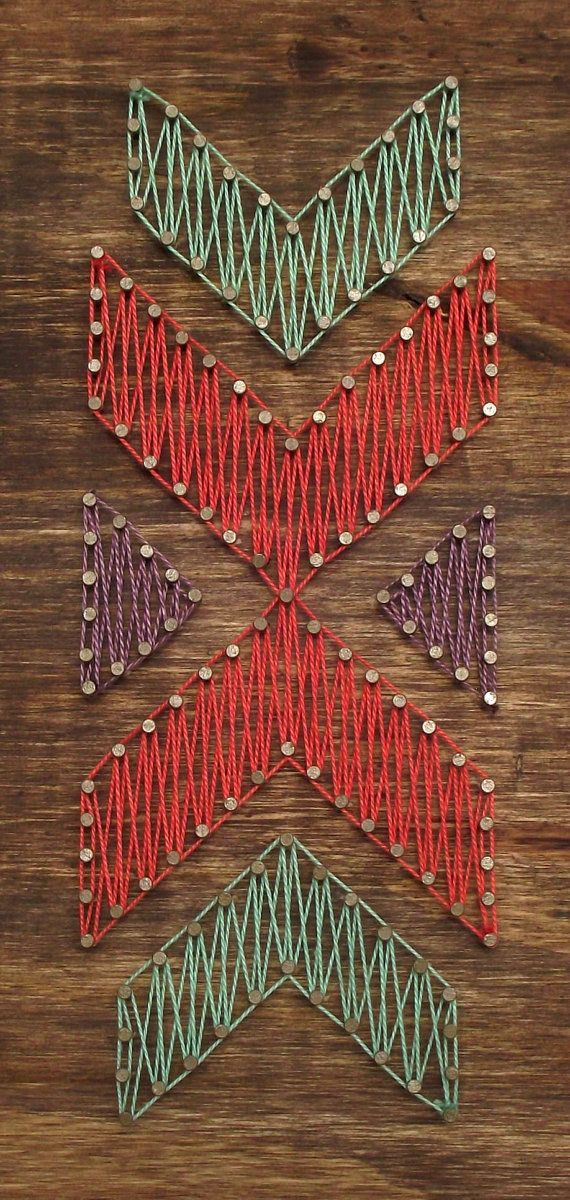 Mini Aztec String Art Sign Aztec Sign Tribal Sign by LoveArtSoul11