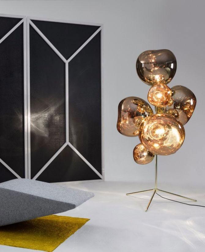 Melt Stand Chandelier Floor Lamp In 2020 Chandelier Floor Lamp Tom Dixon Gold Chandelier