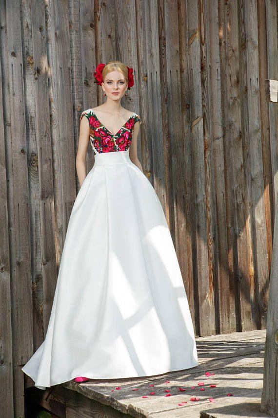 Folk wedding dress folk wedding gown ethnic wedding dress ethnic ...