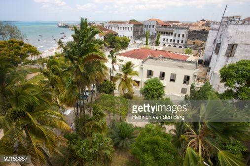 View of Palace Museum and harbour, Zanzibar City, Zanzibar, Tanzania