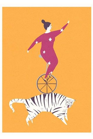 Naomi Wilkinson: Unicycle and Tiger