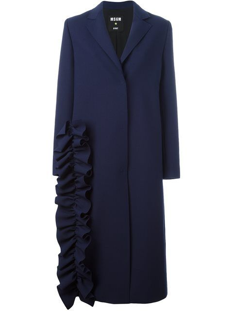 Shop MSGM ruffle detail coat in Tom Greyhound from the world's best independent boutiques at farfetch.com. Shop 400 boutiques at one address.