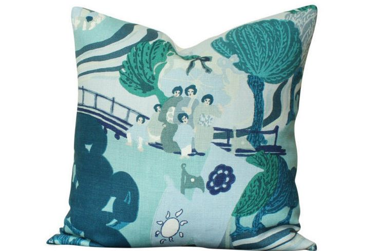 I love this Pearl River  pillow! https://www.etsy.com/listing/476028140/schumacher-pearl-river-pillow-cover-in
