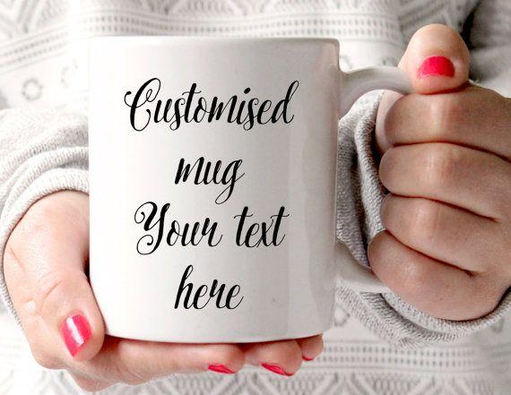 Custom Mug, Personalised Mug, Choose Your text, Statement Mug, Quote, Coffee Cup, Typography Mug, UK