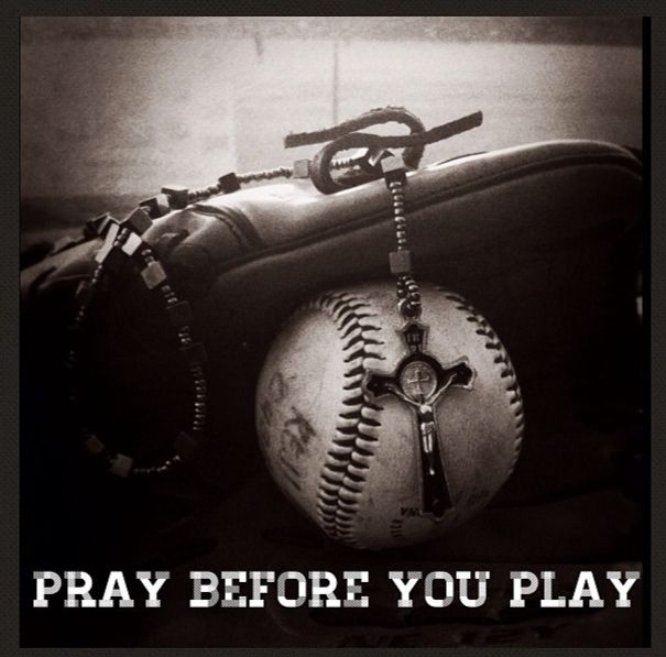 Not enough prayer   this is so true...I always do this with my son before his baseball and football games and with my daughter before she twirls at her highschool games!!!! Put God before all things!!!!