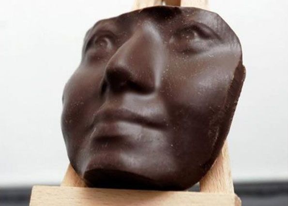 Stalkers need gifts too.  3D Printed Chocolate Mold Of Your Face