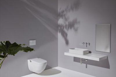 Wie ein Dusch-WC mit integriertem, hochwertigen Design aus Keramik.