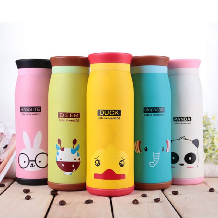 6 styles 500ml 350ml 260ml thermos cartoon animals garrafa termica thermo mug cup termo school thermos bardak caneca   termica