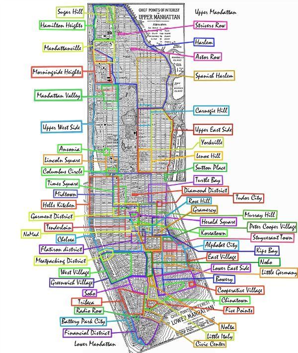 Best Map Of Nyc Ideas On Pinterest Manhattan Map Map Of - Manhattan us map