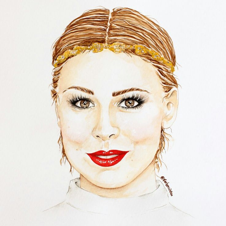 Gemaltes Portrait der deutschen Sängerin Lena Meyer-Landrut